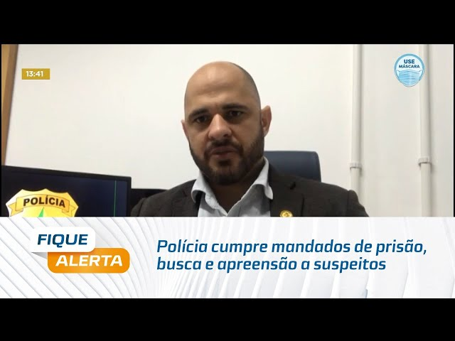 Polícia cumpre mandados de prisão, busca e apreensão a suspeitos de assaltos no Pilar