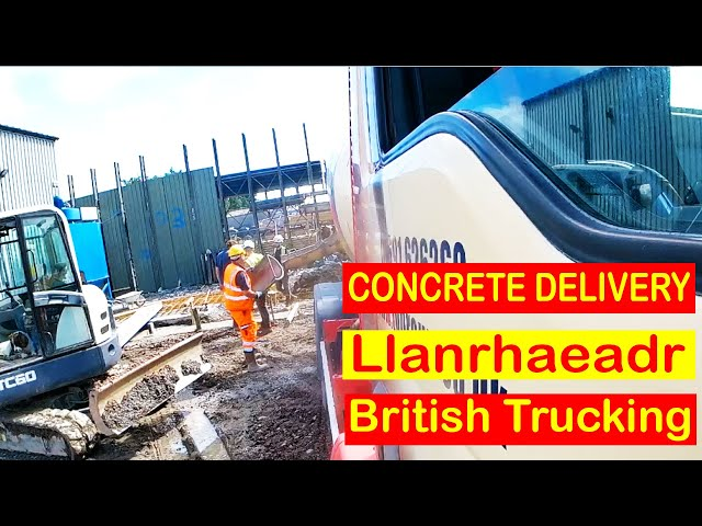 Trucking to Llanrhaeadr in a Concrete Mixer Truck