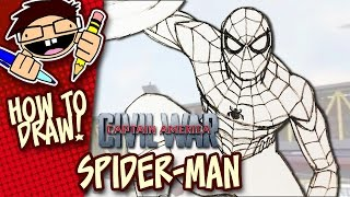 How to Draw SPIDER-MAN (CAPTAIN AMERICA: CIVIL WAR) Step-by-Step Drawing Tutorial