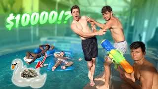 LAST TO FALL IN THE POOL WINS $10,000 CHALLENGE!