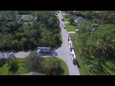 Florida Power and Light Replacing Irma's fallen Electric Pole