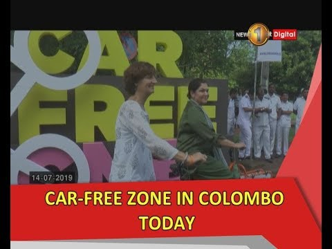 Car Free Zone In Colombo Today Youtube