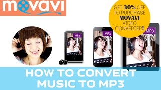 How to Convert Music to MP3 Using Movavi Video Converter (30% DISCOUNT!)(How to convert music to mp3? With Movavi Video Converter, you can convert all the popular audio formats, including WAV, FLAC, WMA, OGG, ACC to MP3 and ..., 2015-03-31T07:54:00.000Z)