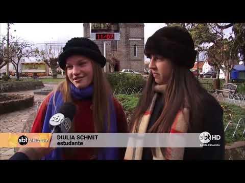 Moradores da Serra Catarinense enfrentam frio intenso