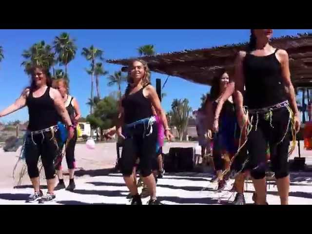 Las Adictas al Baile at the San Carlos Cancer Walk 2015 - Carnival inspired dance