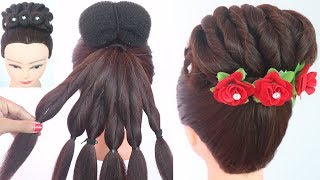 new awesome hairstyle with trick || latest hairstyle || hairstyle for girls || updo hairstyle ||