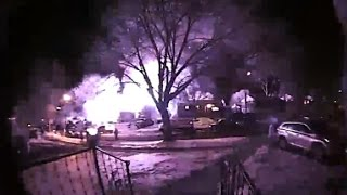 House explosion caught on camera