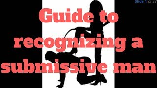 Gambar cover Guide to recognizing a submissive man
