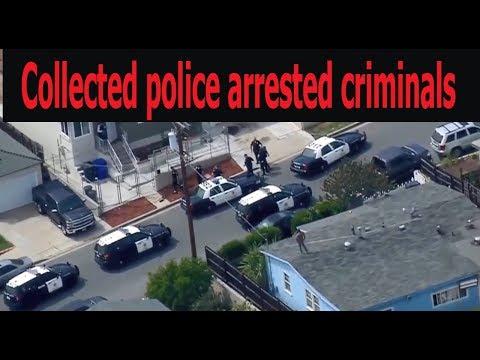 Collected police arrested criminals