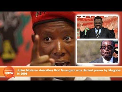 Julius Malema describes that Tsvangirai was denied power by Mugabe in 2008