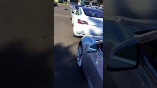Tesla Model 3's at Fremont Delivery Center December 10, 2017