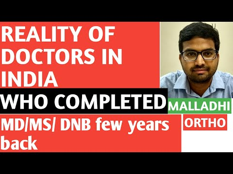 Reality Of Doctors  In India ..Dr Sai Chandra Malladhi MBBS DNB (Ortho)
