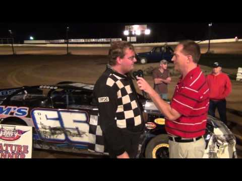 Dillon Wilson in victory lane at Path Valley Speedway on 9/18/15