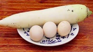 冬天要多吃白蘿蔔,教你懶人新做法,不醃不炒不涼拌,5分鐘出鍋【昕悅廚房】