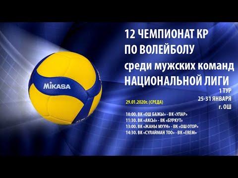 ВК Аксы Vs ВК Буркут.  Чемпионат КР по волейболу. Национальная лига.