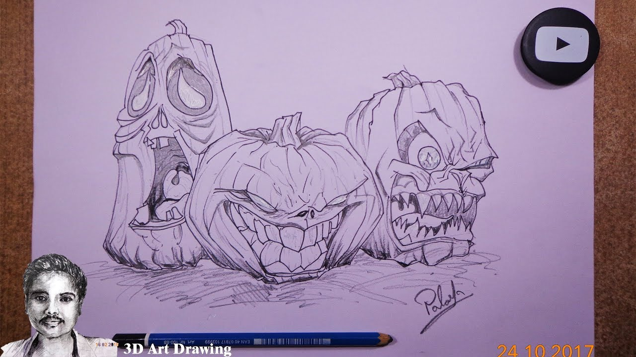 How To Draw Halloween Drawing Ideas Youtube