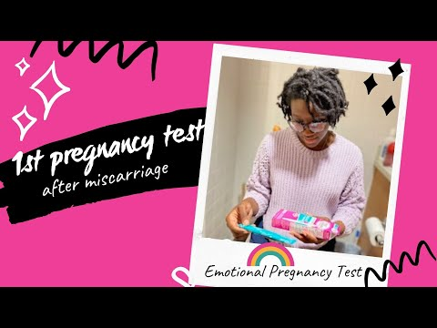 1st Pregnancy Test After Miscarriage  | Emotional Pregnancy Test  | Life After Loss