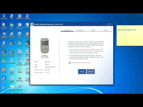 Flashing Nokia 302 RM 813 with Nokia Software Recovery Tool