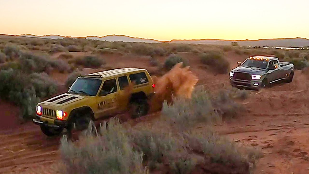 Why Did A Dodge 3500 Dually Go Off Roading?