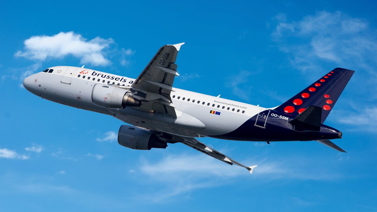 """Brussels Airlines A319 """"Business Class"""" - Dubrovnik to Brussels (great views in 4K!)"""
