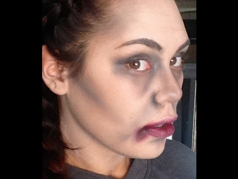 EASY zombie (vampire/anything dead) HALLOWEEN MAKEUP - YouTube