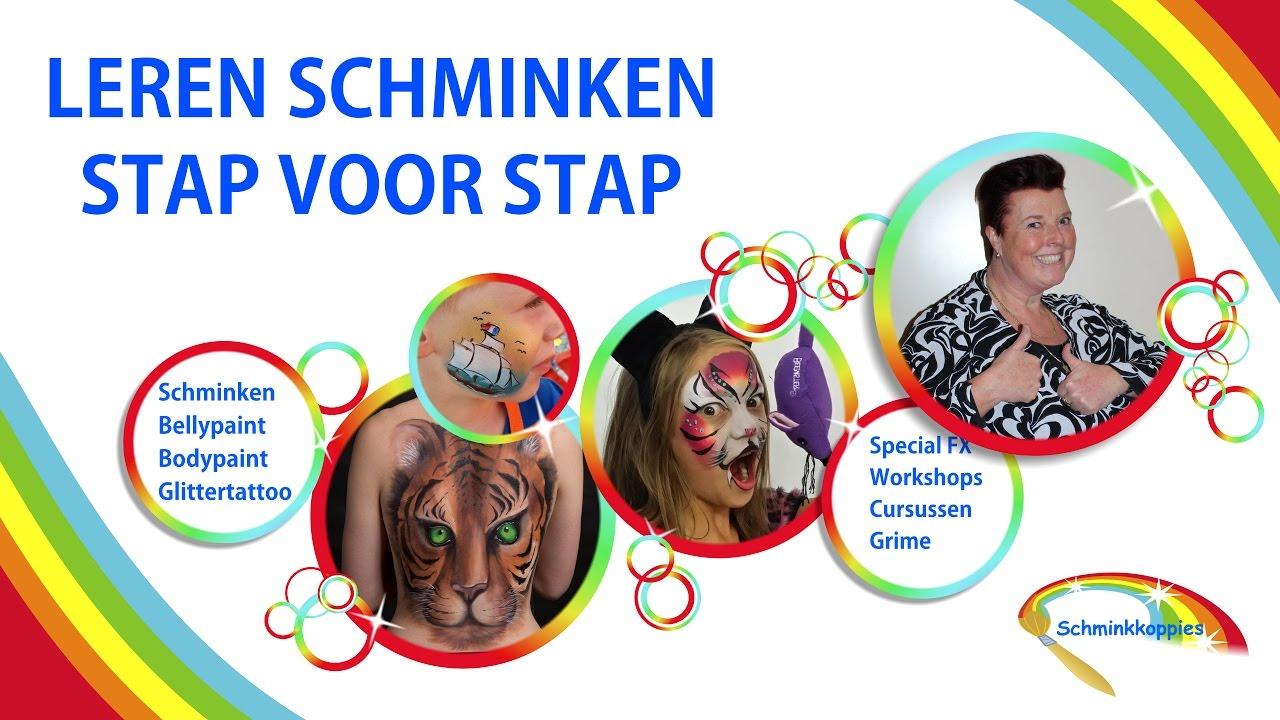 Nieuw Les 2 spons Leren Schminken Stap voor Stap door Schminkkoppies UV-68