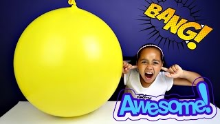 Giant Balloon Pop Toy Surprise - Disney Toys - Chocolate Surprise Eggs - Shopkins - Num Noms