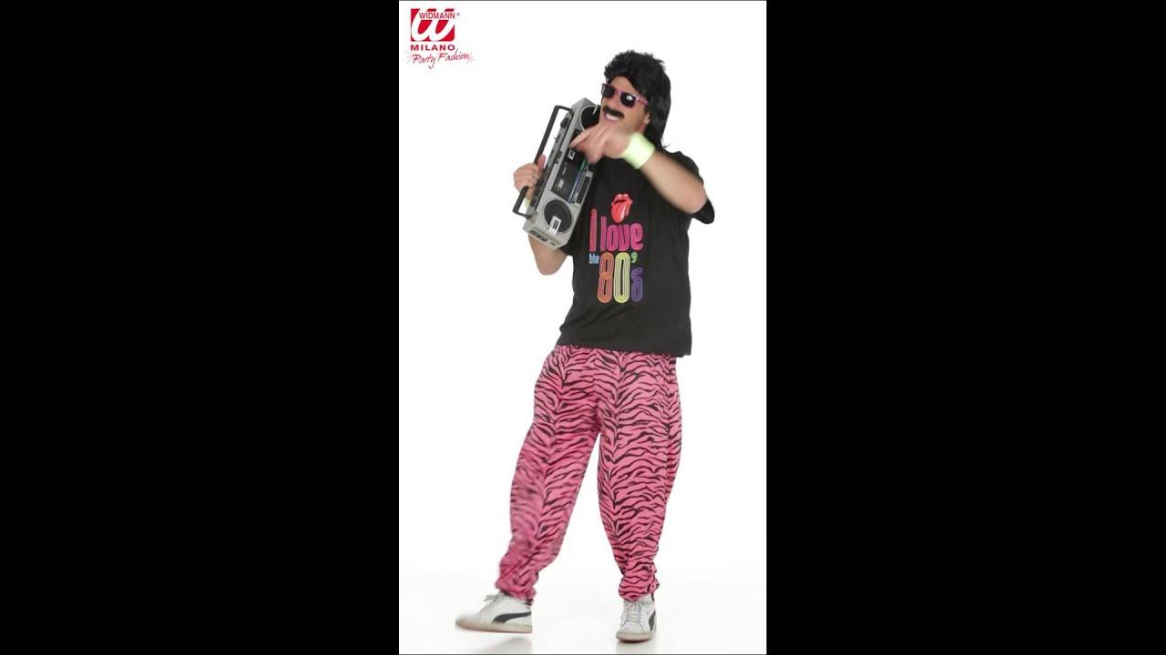Disfraz de Años 80 para hombre. - YouTube