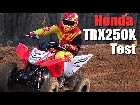 2016 Honda TRX250X Test