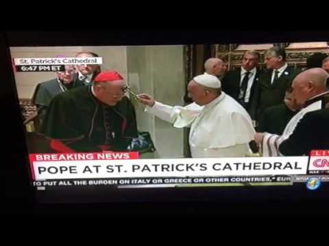 Pope Francis Arrives St Patrick's Cathedral NYC #PopeInNYC