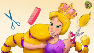 ربانزل مصففة الشعر | الحلقة 2 ( Rapunzel )  مغامرات ربانزل KONDOSAN قصة رسوم متحركة  فيلم كرتون