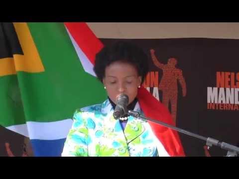 Minister Maite Nkoana-Mashabane during Mandela Day in Diepsloot