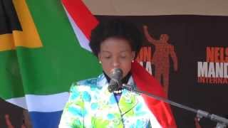 Minister Maite Nkoana-Mashabane during Mandela Day in Diepsloot