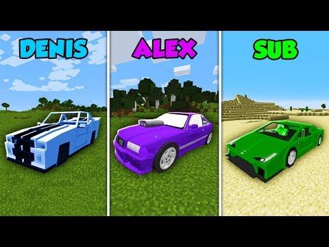 DENIS vs ALEX vs SUB - CAR BASE CHALLENGE in Minecraft! (The Pals)