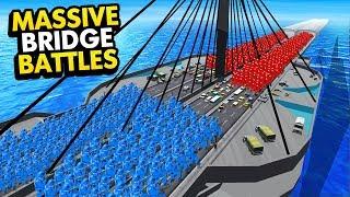 TEAM RED vs TEAM BLUE ON MASSIVE BRIDGE BATTLES IN RAVENFIELD (Ravenfield Funny Gameplay)