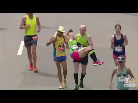 Boston Marathon 2017 epic 42k finish!