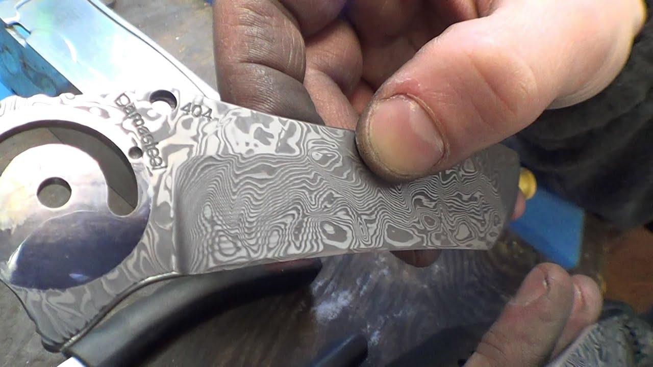 Polishing Damascus before etching - Erik talks about Damasteel - YouTube