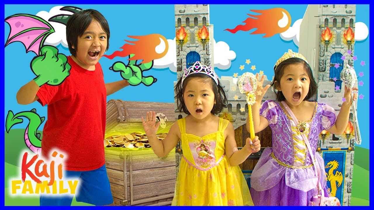 Download Dragon Ryan vs Princess Emma and Kate for the treasure!!!