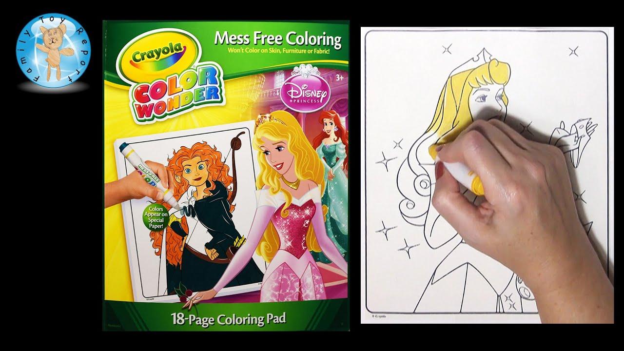 Coloring book princess crowns - Crayola Color Wonder Disney Princess Coloring Book Aurora Sleeping Beauty Crown Family Toy Report