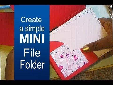 Make a Simple Mini File Folder  paper craft. DIY folder making tutorial