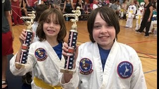 Rowan and Ivan win at the karate tournament!