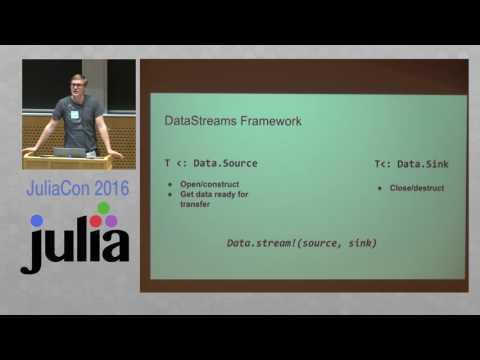 JuliaCon 2016 | DataStreams.jl: Workflows for Data Processing Tasks | Jacob Quinn