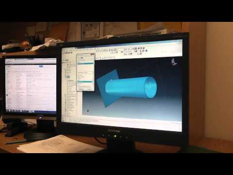 FEA example (Pipe tension) Video 1