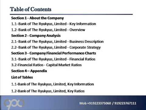 SWOT Analysis Review on Bank of The Ryukyus, Limited
