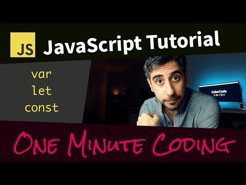 JavaScript Variables Tutorial - ES6, var, let, const thumbnail
