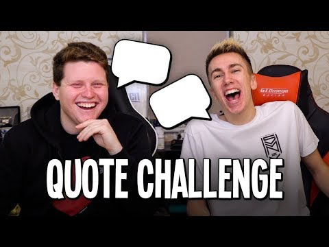 THE SIDEMEN QUOTE CHALLENGE!