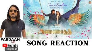 Saara Kaatrae Song Reaction | D Imman - Rajinikanth | Sid Sriram | Shreya Ghoshal | PARDAAH Live
