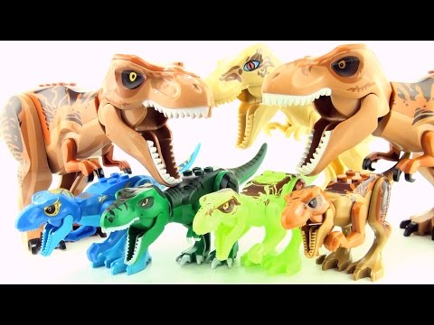 Jurassic World Lego Tyrannosaurus Rex toys - T-Rex Dinosaurs toy collection - Dinosaur toys