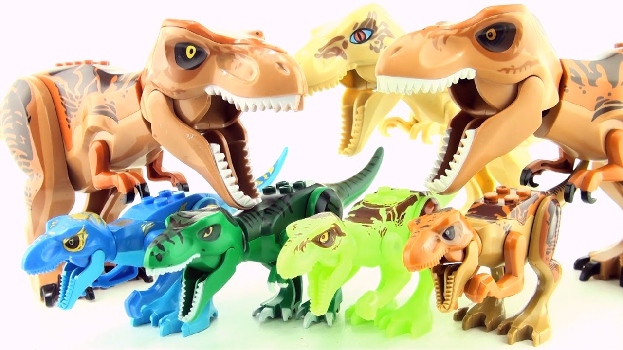 Dinosaurs Toys Collection : Jurassic world lego tyrannosaurus rex toys t