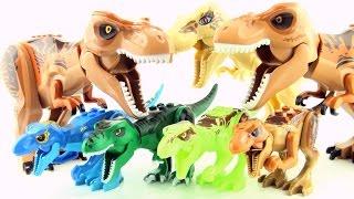 Jurassic World Lego Tyrannosaurus Rex toys - T-Rex Dinosaurs toy collection - Dinosaur toys